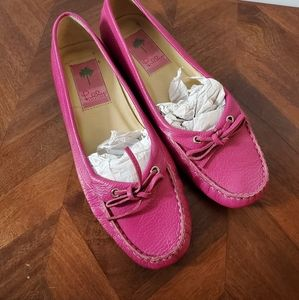 Lilly Pulitzer pink loafers size 7.5m